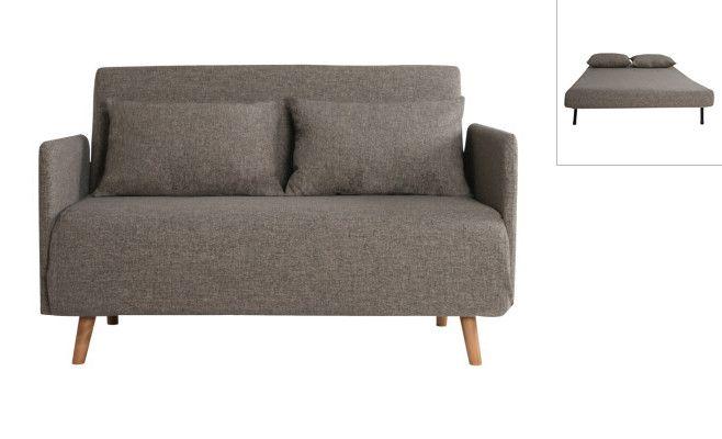 """Divano letto """"Oslo"""", colore sabbia  Divano: 128 x 94 x 80 cm  Letto: 182 x 120 x 27 cm"""