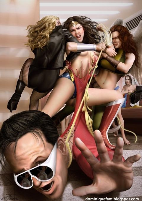 """Wonder Woman realizing something's not quite right with her costume."" - dominiquefam // Sneaky Plastic Man"