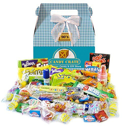 13 best whats in your easter basket images on pinterest easter 1990s easter retro candy gift basket candy crate httpamazon negle Choice Image
