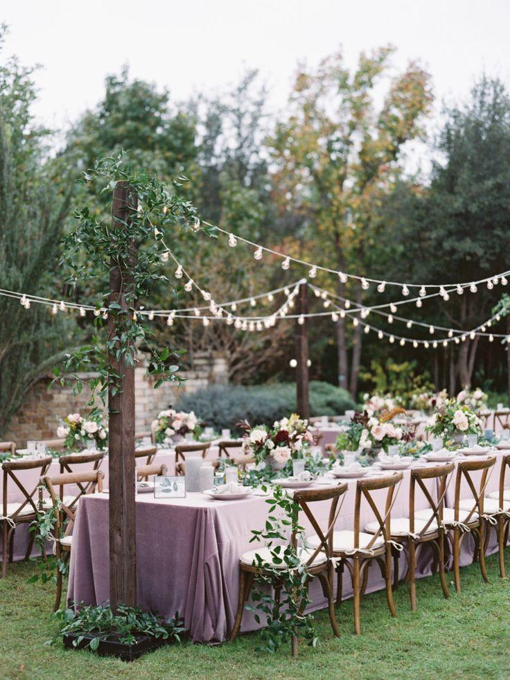 Romantic fall garden wedding at Clark Gardens