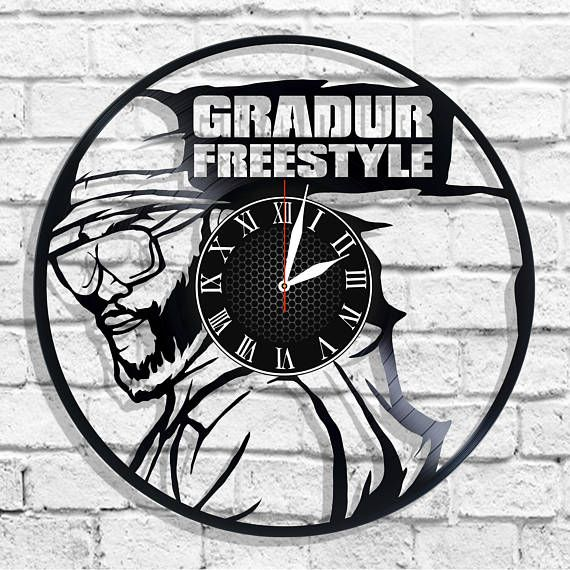 Gradur rapper design wall clock Gradur singer wall poster