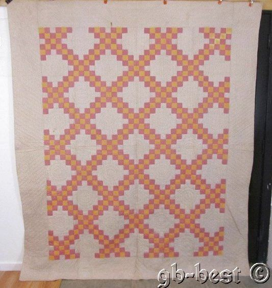 Antique 1900s Pennsylvania Irish Chain Quilt 92 x 80 First Time Listed Estate | eBay