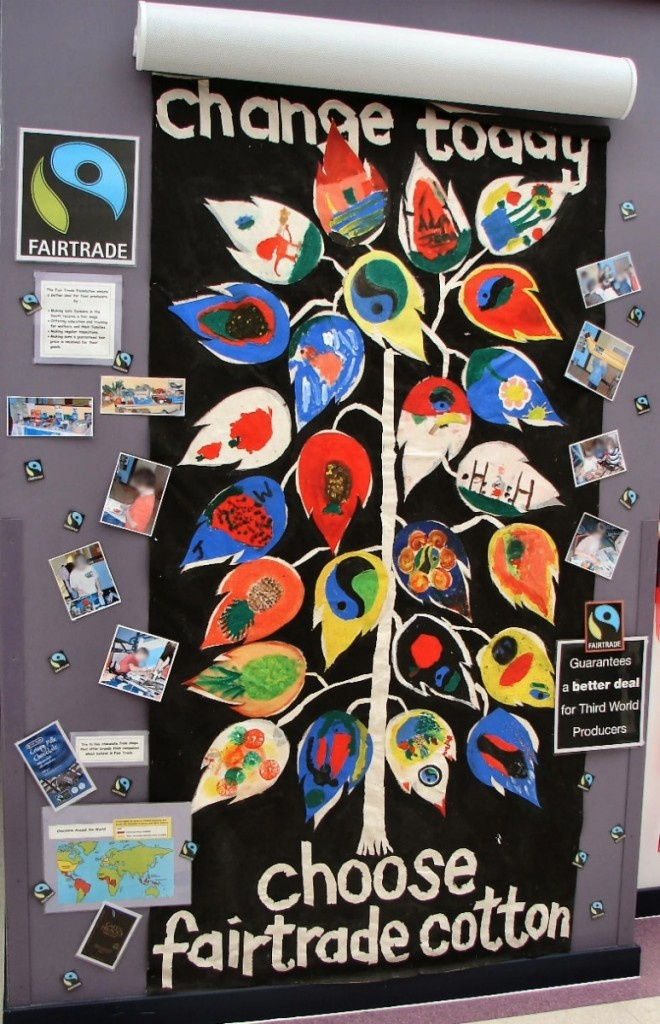 From our friends in UK: Fairtrade display