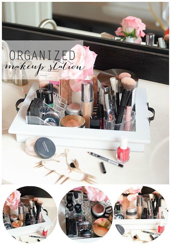 Organized Makeup Station