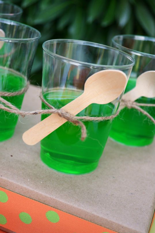 The Party Wagon - Blog - DINOSAURDIG      -- could make jello with plastic dino in the bottom... fun!