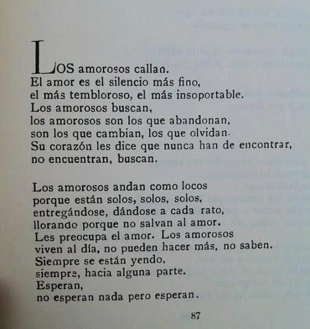 """Para """"Los Amorosos"""" de Jaime Sabines"""