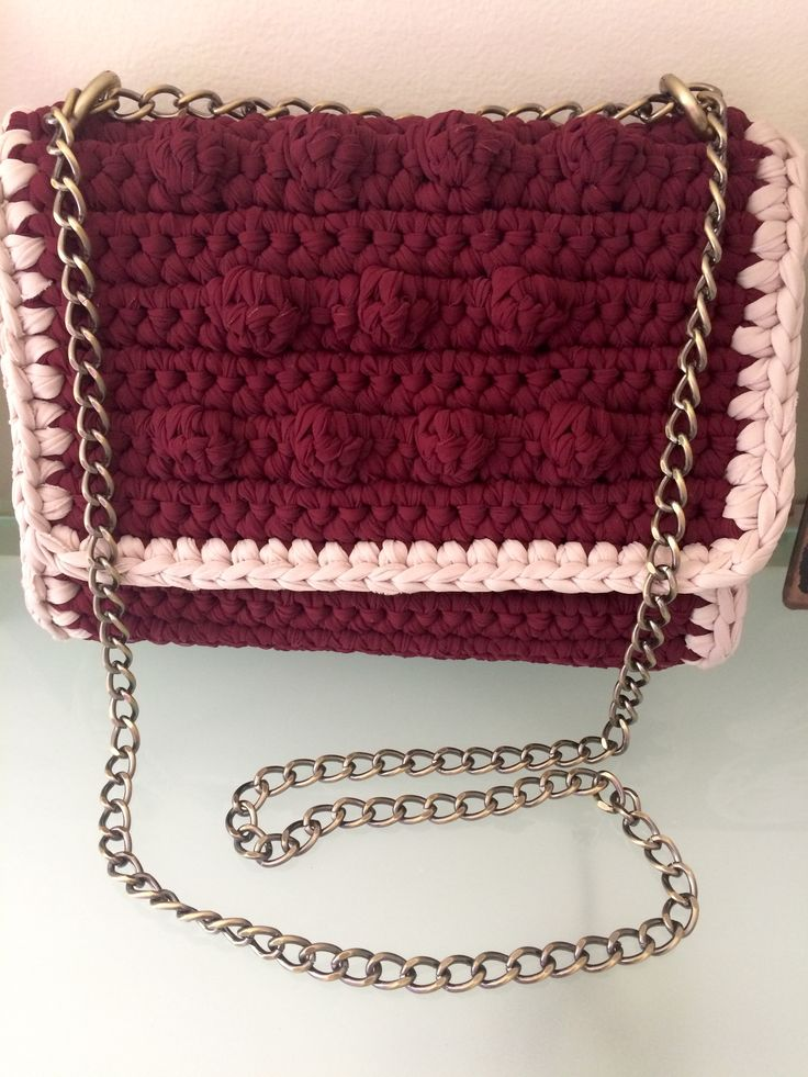 Handmade bubble crochet bag