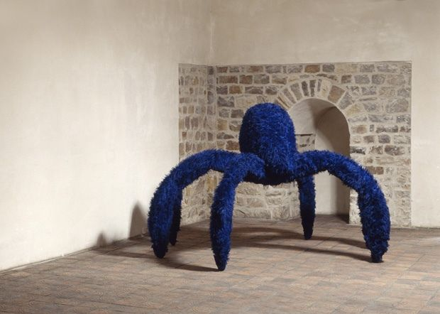 Pino Pascali (Italian, 1935–68), La vedova blu, 1968 (cf. Louise Joséphine Bourgeois (French-American, 1911–2010) In the late 1990s, Bourgeois began using the spider as a central image in her art. Maman)
