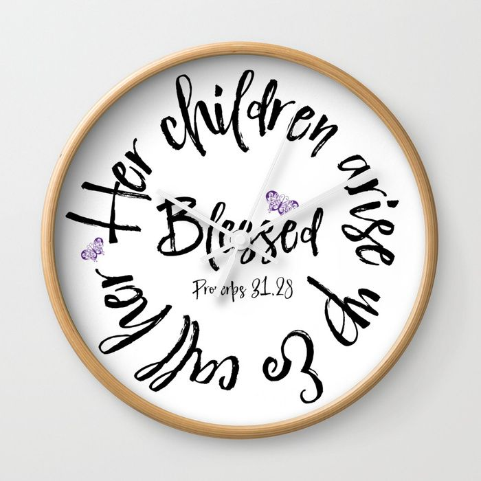 proverbs mom clocks rethink the traditional timepiece as on wall of moms id=51565