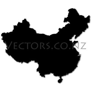 Blank Vector Map of China
