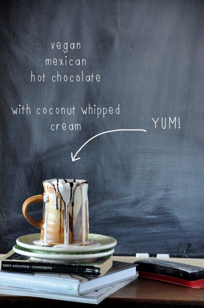 Mexican Hot Chocolate with Coconut whipped cream (vegan) @Dana Shultz | Minimalist Baker