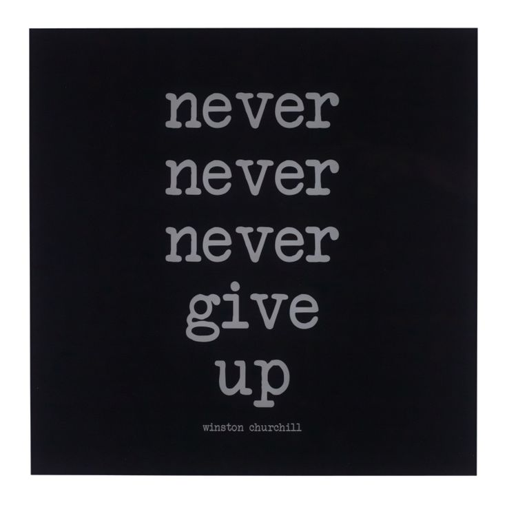 Pfister quotes, never never nerver give up