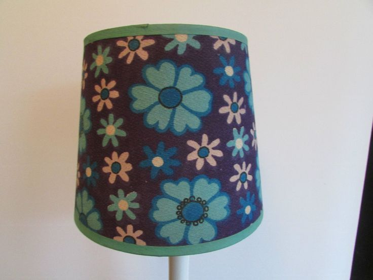 vintage 1960's retro blue lamp shade in Home, Furniture & DIY, Lighting, Lampshades & Lightshades | eBay