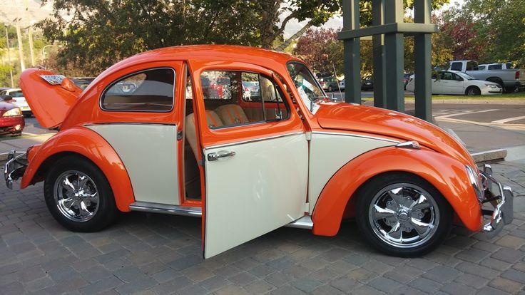 orange  cream vw beetle  wasatch classic vw show  provo   riverwoods  july