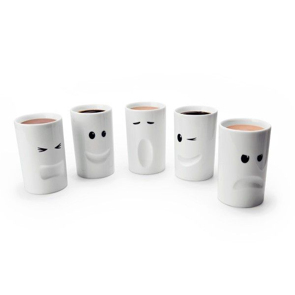 Mood Mugs - these insulated mugs make me smile, but I still like grumpy gus better than happy larry.