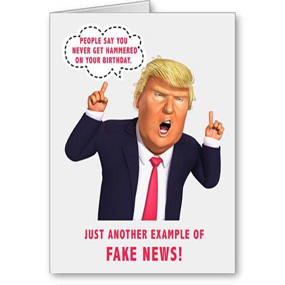 Trump Birthday Card Funny Trump Card Political Card