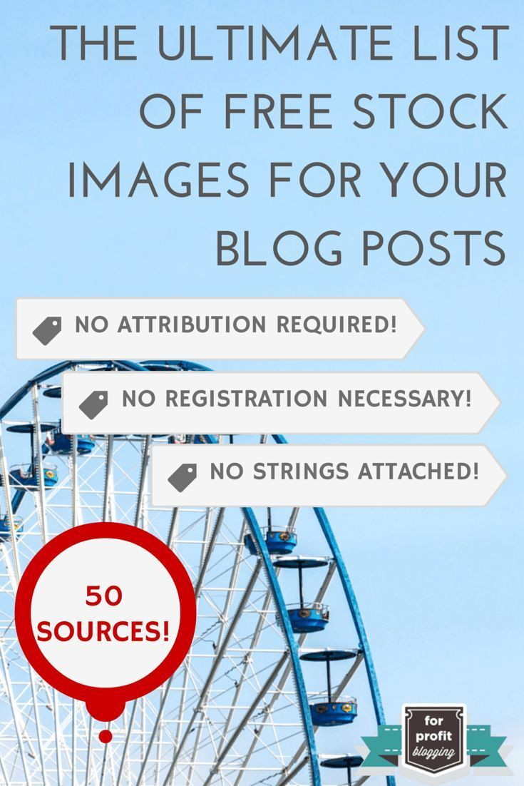 The Ultimate List of Free Stock Images on ForProfitBlogging.com