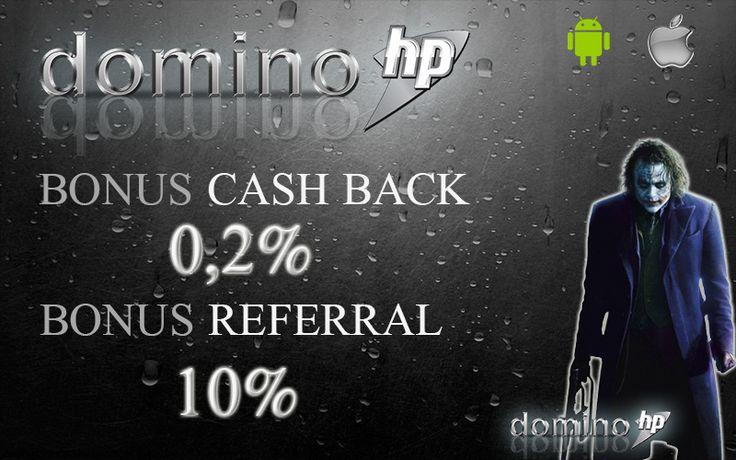 DominoHP BandarQ Online Terpercaya Play and WIN ( Main dan MENANG ) bersama DOMINOHP Dapatkan keuntungan berganda dengan beragam bonus menarik dari DOMINOHP : * Cashback 0.2% setiap Senin mulai pukul 13.00 WIB * Referral 10% seumur hidup tanpa syarat * Jackpot Ratusan JUTA Setiap Hari Customer Service OL 24 JAM setiap hari : * PIN BB : 7B298D6E * Livechat : www.dominohp.com * YM : dominohp #poker #dominoqq #capsa #bandarq #aduq #livepoker #domino99