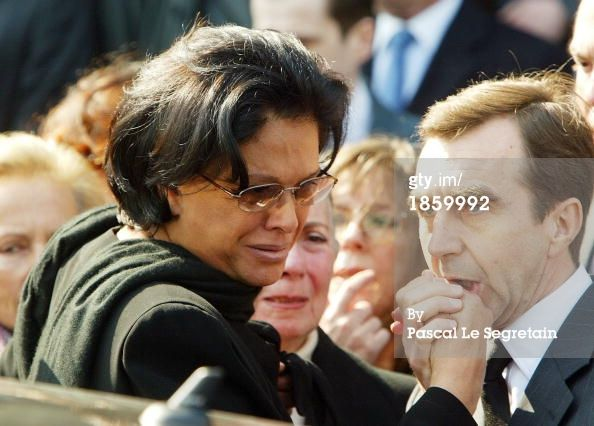 Betty Lagarder at her husband's funeral