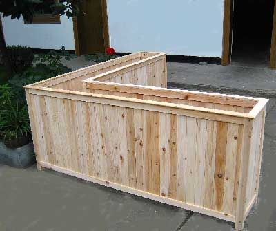 tall corner planter. For the back of the built in benches/chairs, seating in…