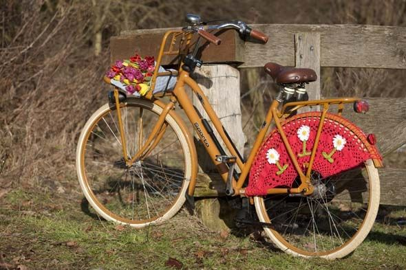 #diy crocket patern typical dutch ;-) #bike - Zelfgehaakte jasbeschermers