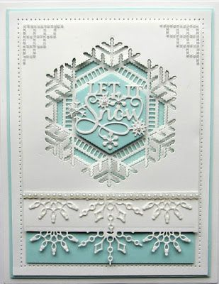 This is so elegant! I love the new Sue Wilson Festive Collection!