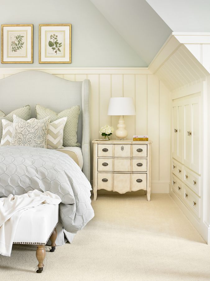 Use your wasted space with some built-ins. My old 1930s house had this idea in the master BR