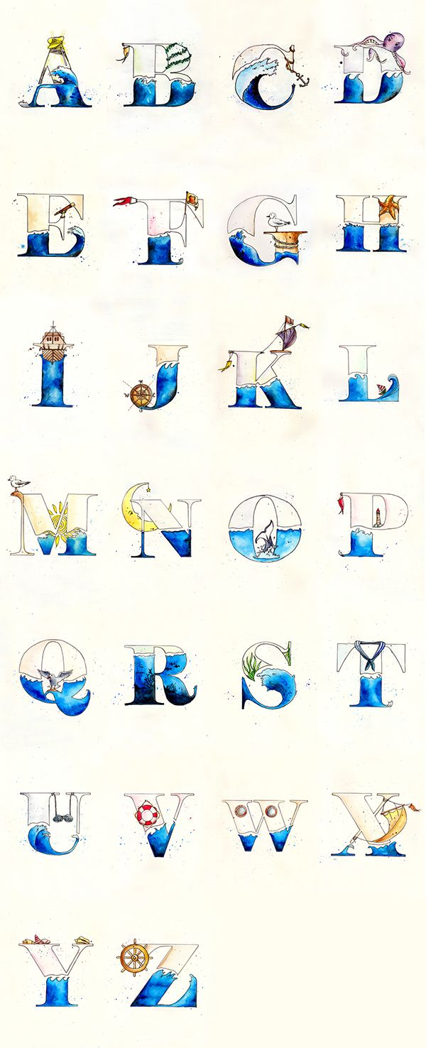 Destination On Typography Served Nautical LettersNautical