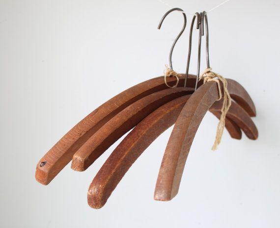 sale vintage 1920s wood hangers 4 by