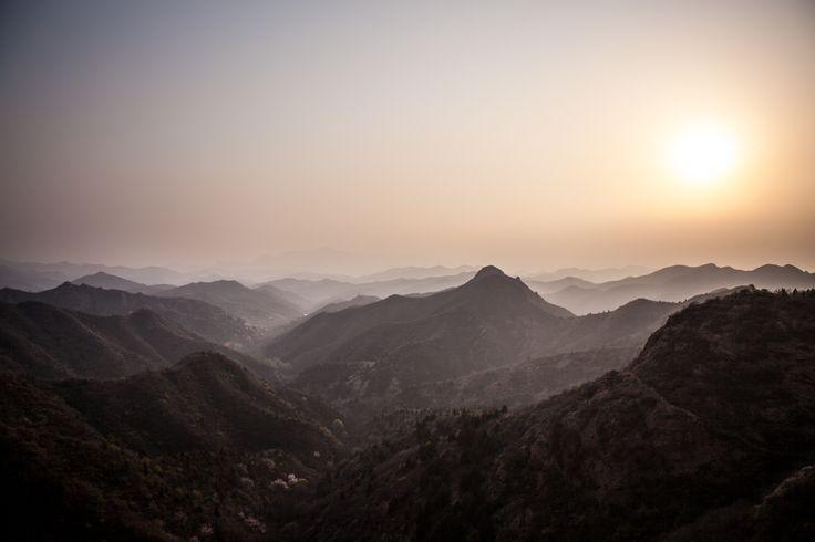金山岭长城 Great Wall at Jinshanling i 北京市, 北京市