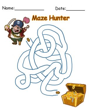 How cool is this free printable pirate maze?! Give a like.