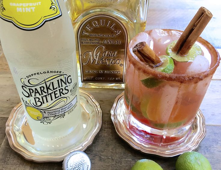 Dolce Paloma with Sparkling Bitters Grapefruit Mint
