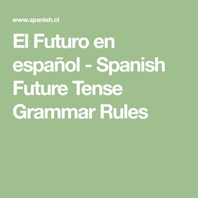 El Futuro en español - Spanish Future Tense Grammar Rules