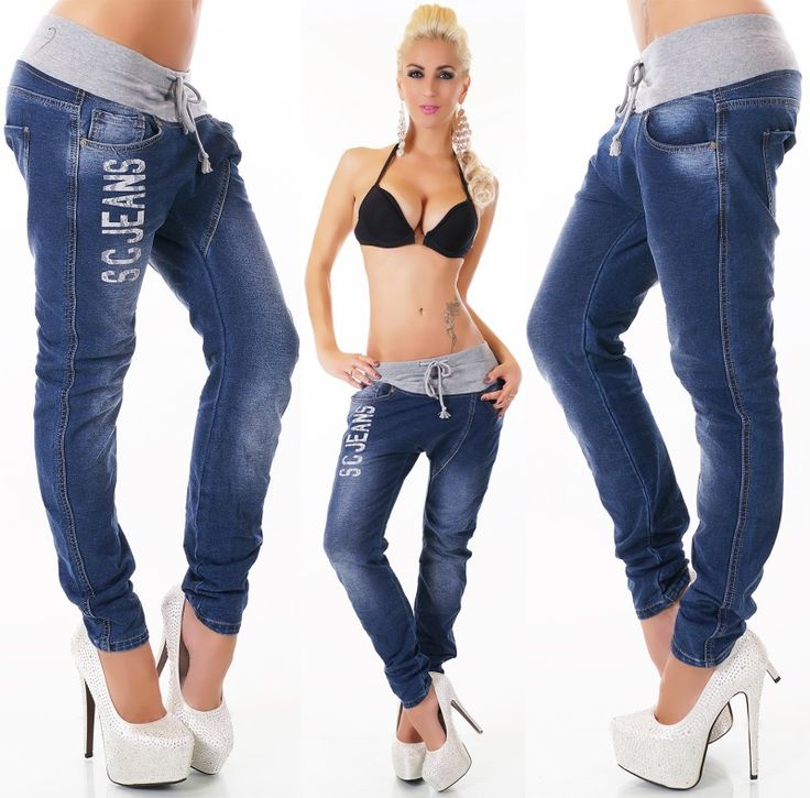 Dámské džíny s nízkým sedem