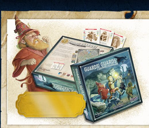 """""""Guards! Guards!"""" A board game based on Terry Pratchett's Discworld books."""