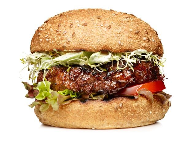 Garden Burgers #Protein #Grains #MyPlateFood Network, Burgers Recipe, Goddesses Dresses, Foodnetwork Com, Green Goddesses, Summer Meals, High Fiber Recipe, Burger Recipes, Gardens Burgers