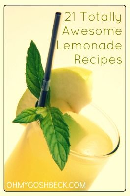 21 Totally Awesome Flavored Lemonade Recipes