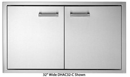 "DHAD38-C 38"" Double Access Doors with 304 Stainless Steel Construction One-piece 18 Gauge Frame and Adjustable European Hinges in Stainless Steel"