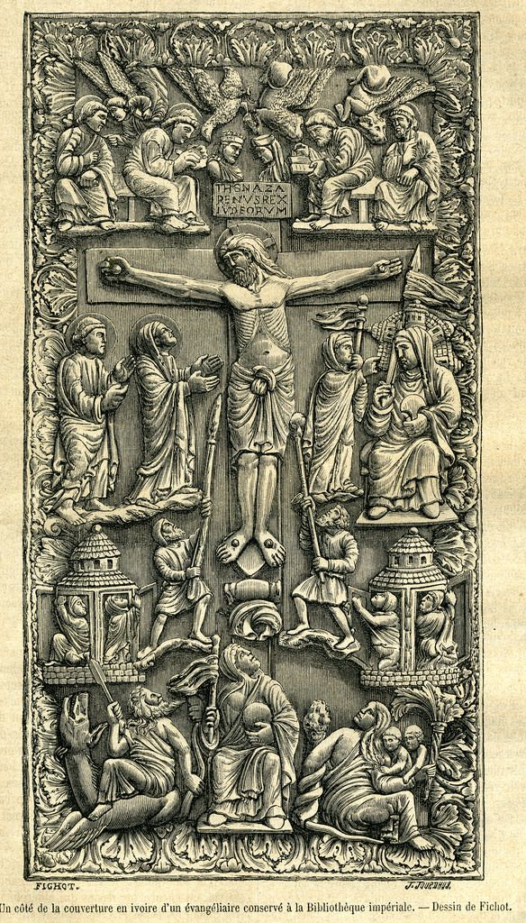 Ivory crucifixion bible cover-medieval | by seriykotik1970