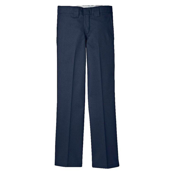 Dickies Boys' Slim Straight Pant - Dark Navy (Blue), Boy's, Size: 18