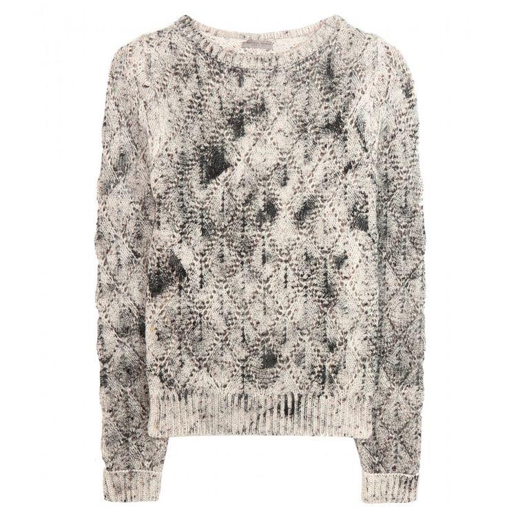 Bottega Veneta - Pull en tricot de laine - Confectionné dans un somptueux tricot de laine, ce pull vous est proposé par Bottega Veneta. Idéal pour la saison hivernale, il arbore une encolure ronde décontractée ainsi qu'une silhouette classique. Sa teinte blanche tachetée de noir et de bordeaux apporte une touche contemporaine à son aspect casual, et vous permet de l'associer à des tenues modernes et originales. seen @ www.mytheresa.com