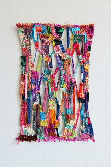 Woven Art - rather than the typical straight lines & stripes, have kids come up with a new weaving process. Maybe teach them traditional weaving first, them have them experiment?