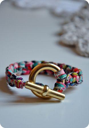 macrame liberty fabric bracelet