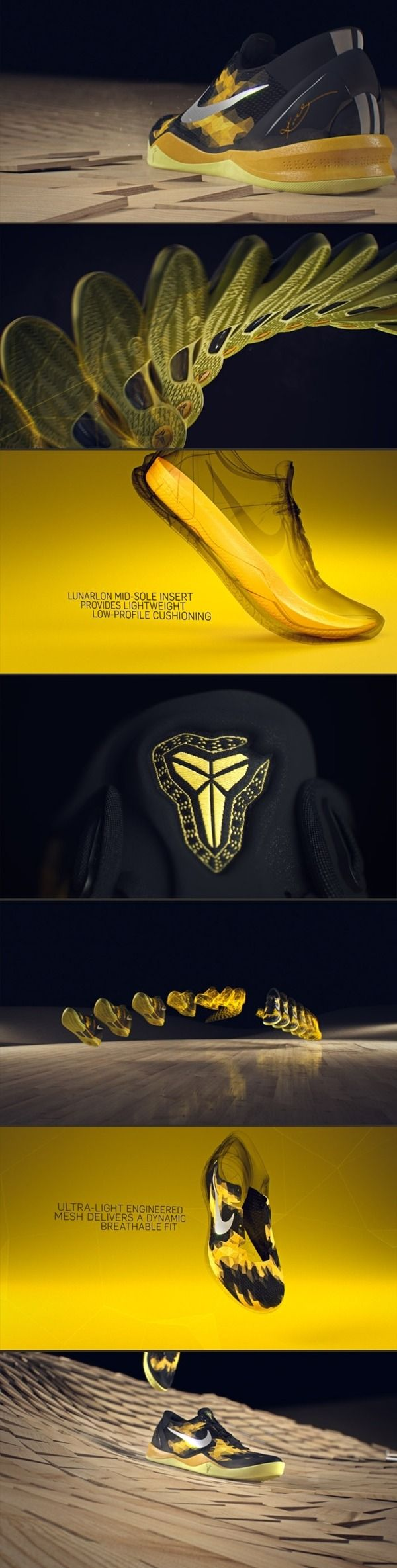 Nike Kobe 8 System by simon holmedal, via Behance