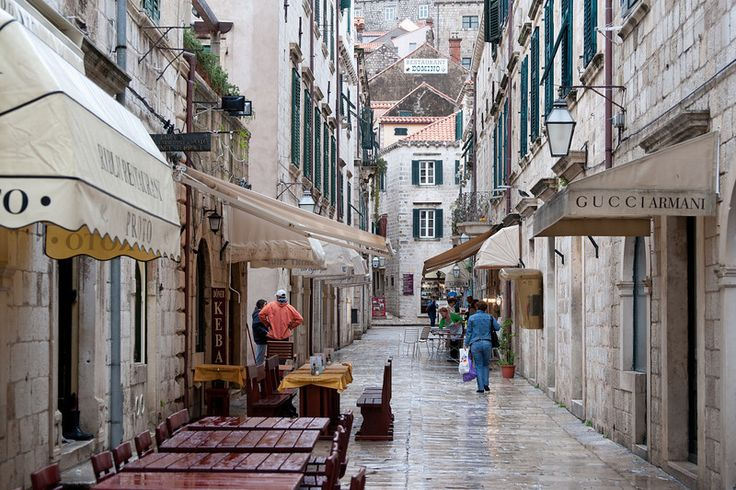 Quite side street in Dubrovnik, Croatia