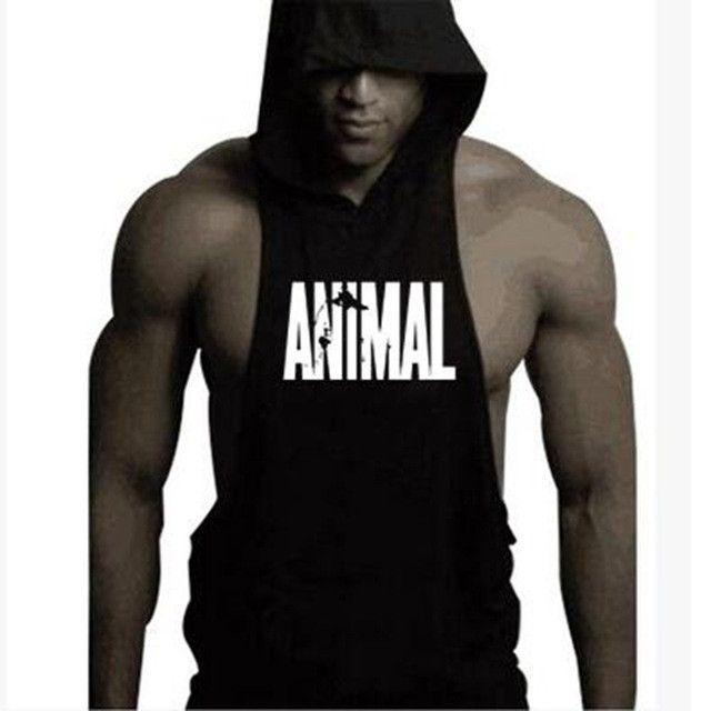 Brand clothing Design for living man hooded sleeveless vest. Cotton Body Engineer Hooded Shirt Men Bodybuilding