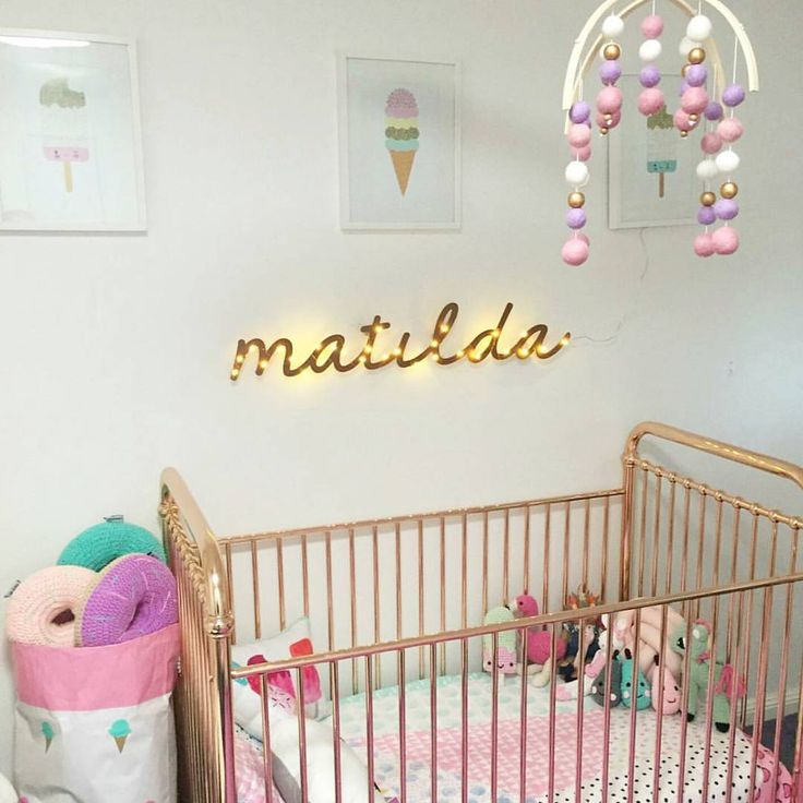 Our very lovely & very stylish customer @amy_c85 shared her daughter Matilda's  gorgeous nursery featuring her very own custom Arlo Gold mobile! 😍  #arlogold #Feltballmobile #copper #gold #pink #purple #nurseryideas #nurseryinspiration #nursery #gorgeous #babygirl