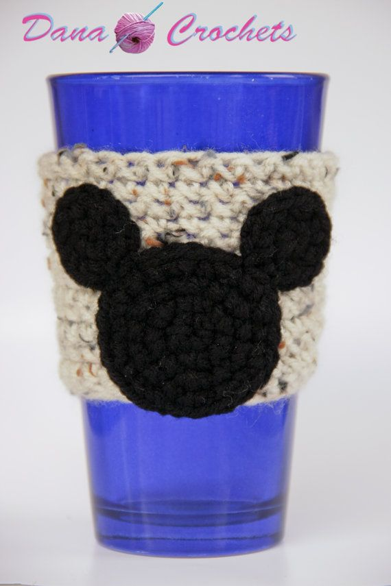 Crochet Mouse Coffee Cup Cozy by Dana by DanaMarieCrochets on Etsy