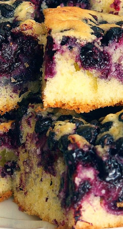 Melt in Your Mouth Blueberry Cake | Food and Drink | Pinterest