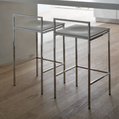 JulyMax Stool This stools has a great backrest and therefore could be the right solution if you are looking for an ultramodern design but also a comfortable stool. It is made of durable, reliable and high-quality metal.
